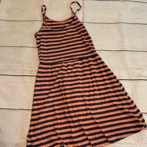 Peach and Navy Strappy Sun Dress